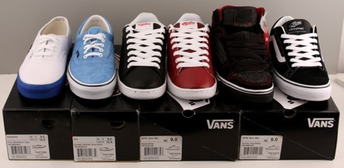 (From L to R) Authentic, ERA, OTW Slim MU, OTW Slim MU, Owens Hi Vulc MU, La Cripta Dos